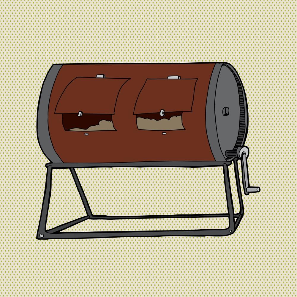 le composteur rotatif